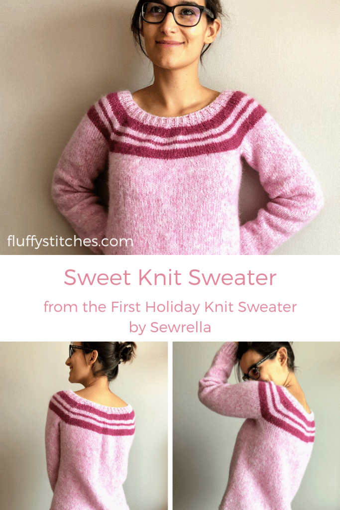 The image made for Pinterest of the Sweet Knit Sweater