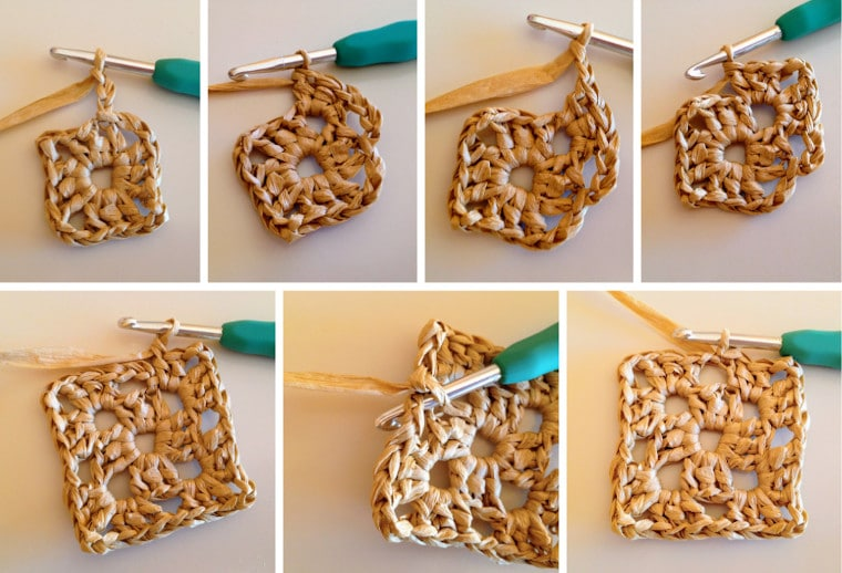 Step by step on how to make round 2 of the granny square