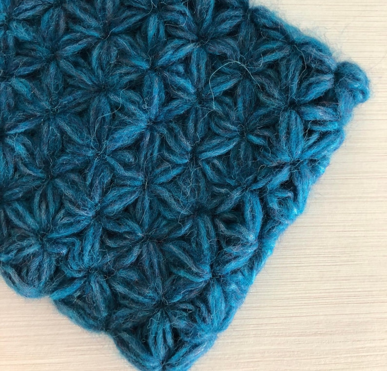 Cover image for the crochet jasmine cowl cover image