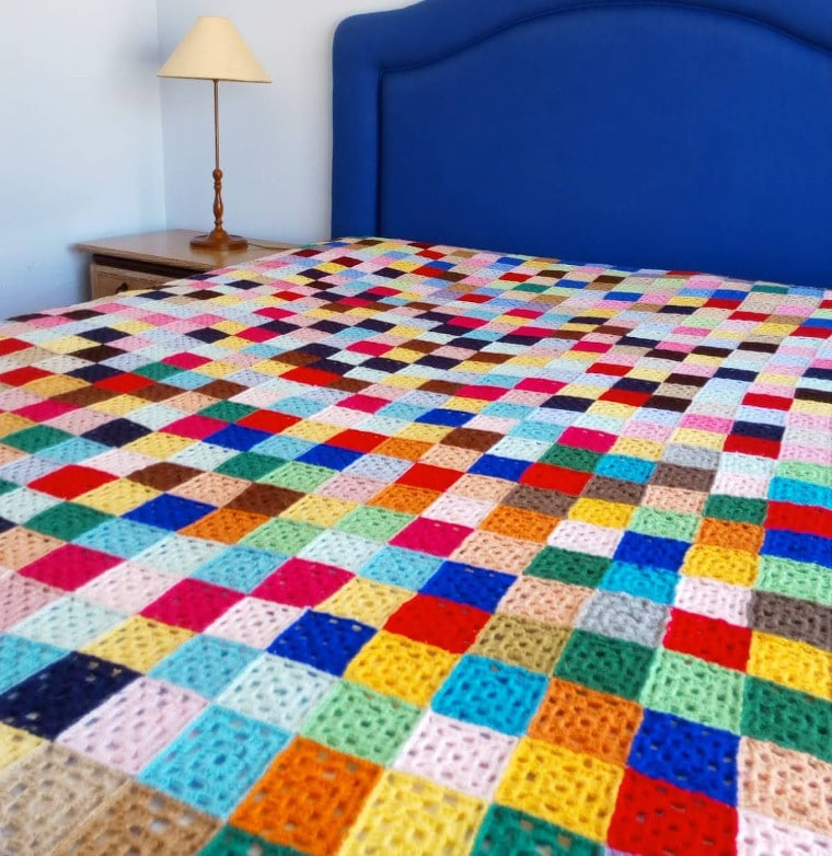 Granny Square quilt made by Susana from Fluffy Stitches