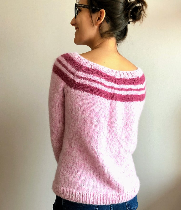 The Sweet Knit Sweater seen from the back