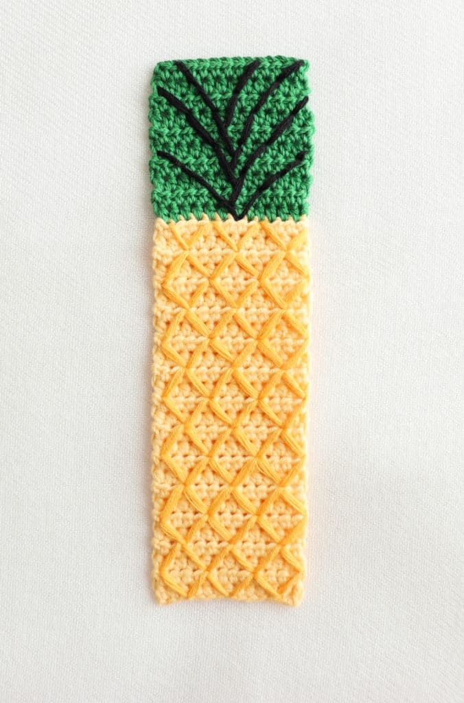 The Pineapple Bookmark from the Crochet Tropical Bookmark Set