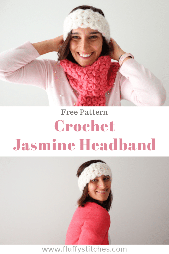 A quick and satisfying pattern, the Jasmine Headband makes for a great pair to any scarf or can be worn as a statement piece. Made completely in jasmine stitch, this beautiful and feminine design will keep you comfortable on colder days.