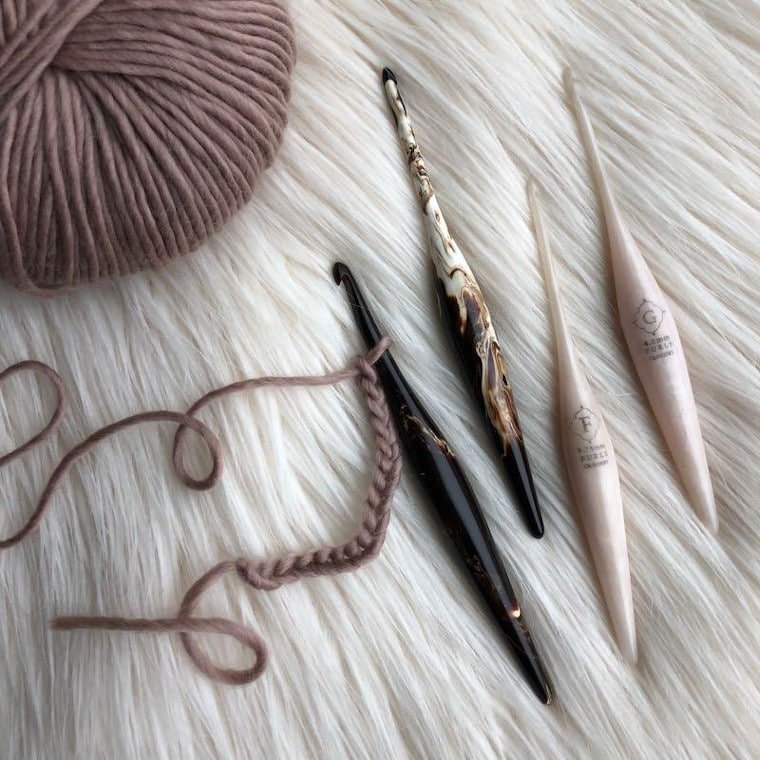 Furls Crochet hooks, one of the top gifts for crocheters