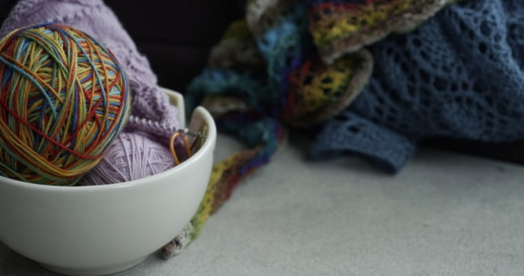 A yarn bowl, one of the top gifts for crocheters & knitters