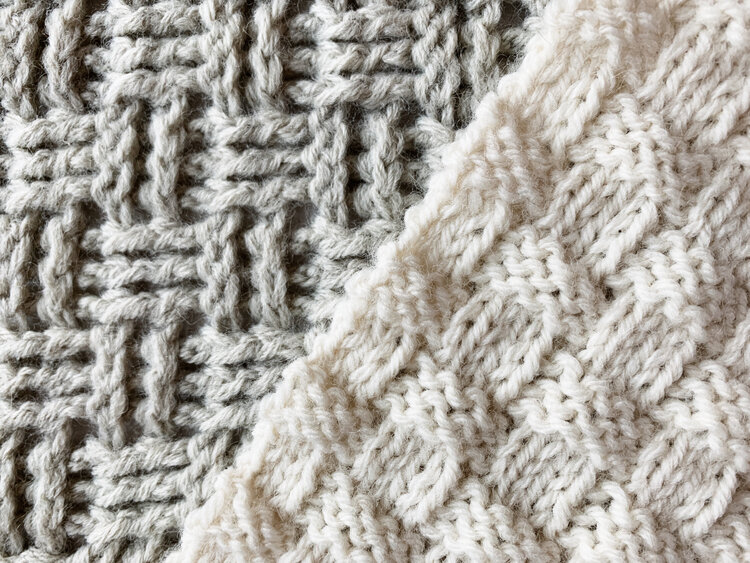The crochet and knit squares for the Traveling Afghans
