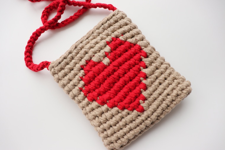 The Crochet Lovely Heart Purse, the perfect gift for Valentine's Day