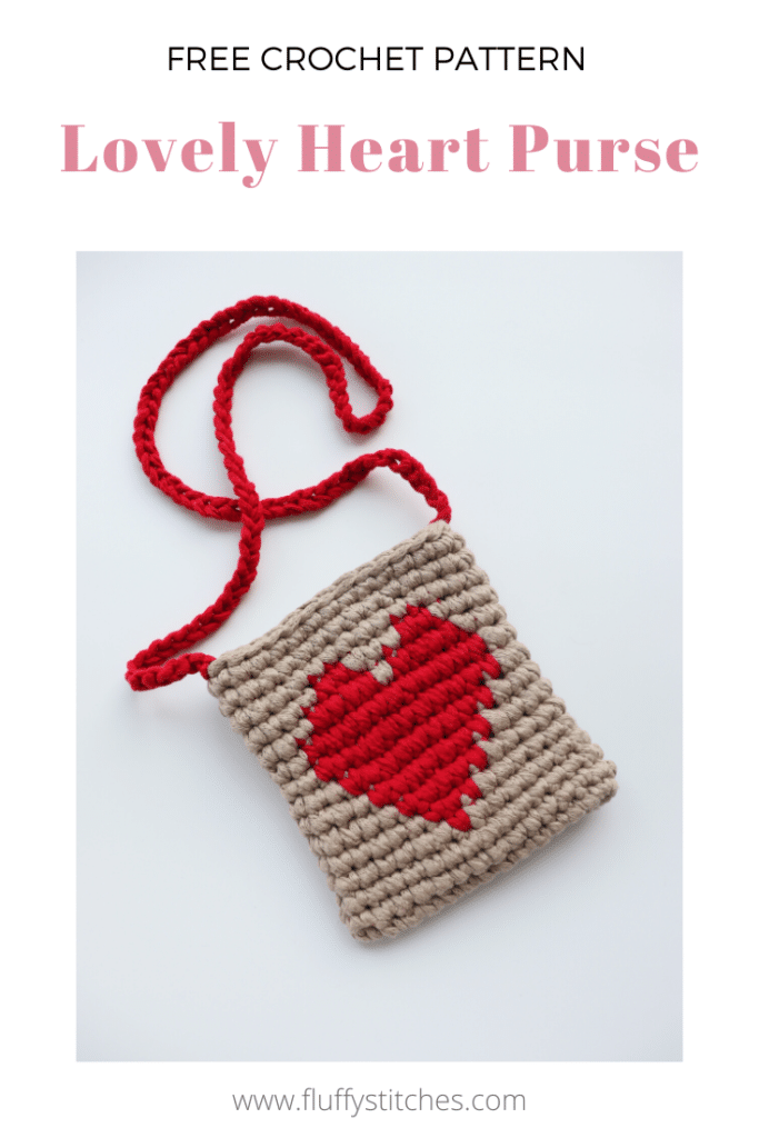 Cheer up your Valentine with the sweet little Crochet Lovely Heart Purse. A small and practical purse that you can gift anyone, including yourself! Made with just single crochets in the round and chains, the bright red heart against the sandy color turns this project into the cutest gift.