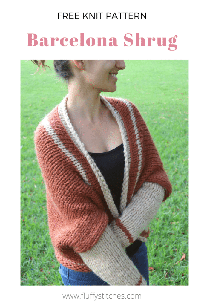 Go back to wherever makes you feel at home with the Knit Barcelona Shrug. This oversized shrug with warm earth tones will make you feel cozy and comfortable, whether you're out and about or just relaxing on your couch.