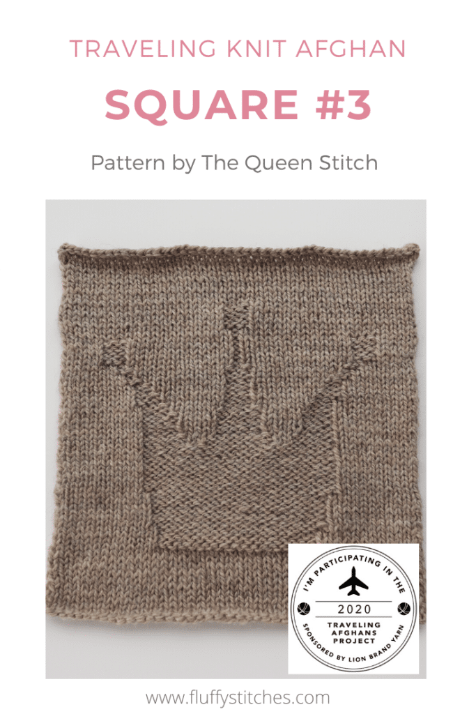 Read about the third square of the Traveling Knit Afghan!