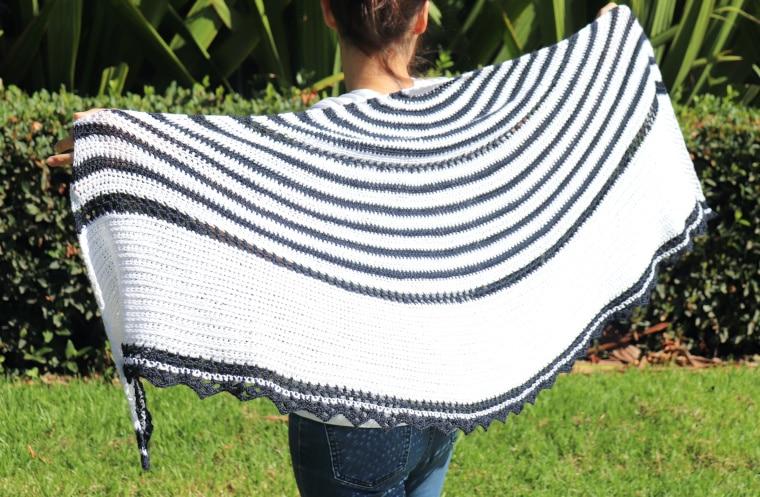The Crochet Promenade Shawl open