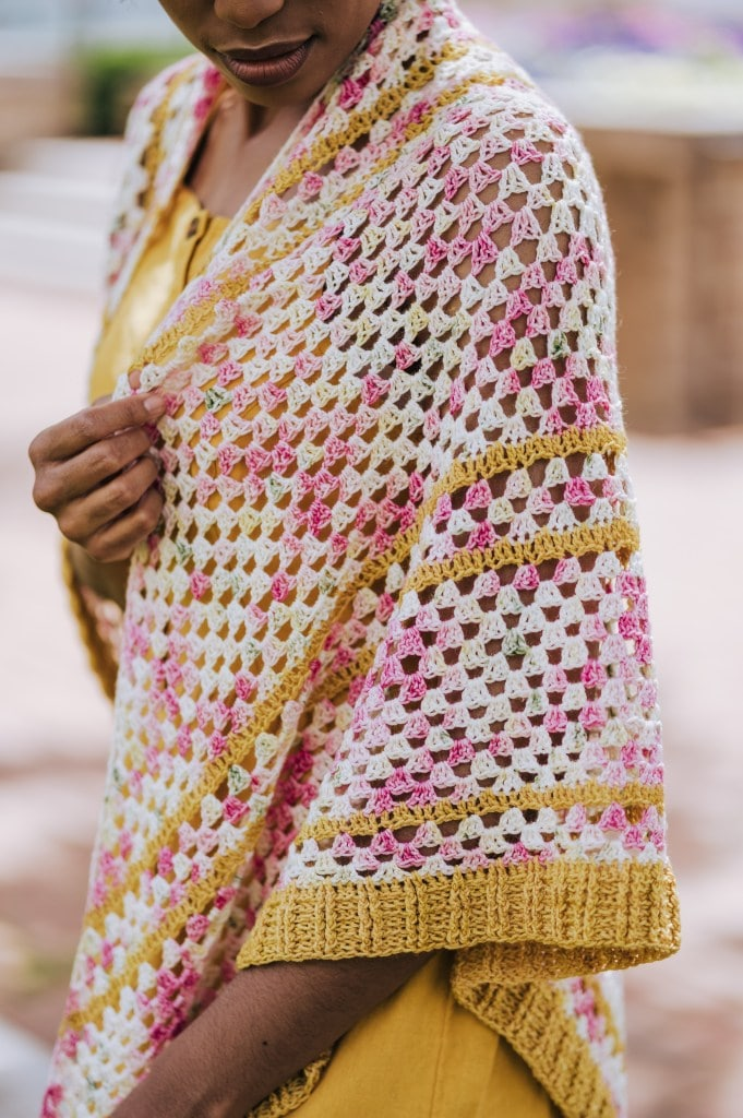 The Garden Party Shawl designed by TL Yarn Crafts