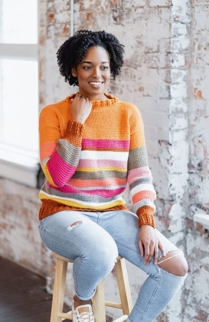 The Sedona Sweater designed by TL Yarn Crafts
