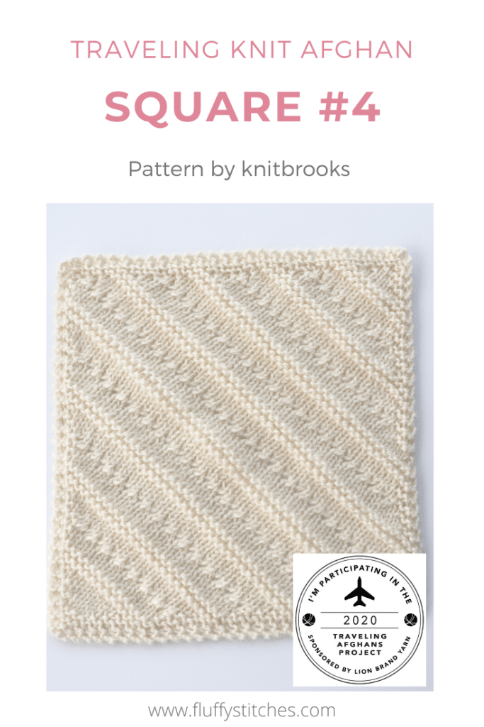 Here is square Four of the Traveling Knit Afghan! Designed by knitbrooks this square will take you in a new direction! Come and find your way here!