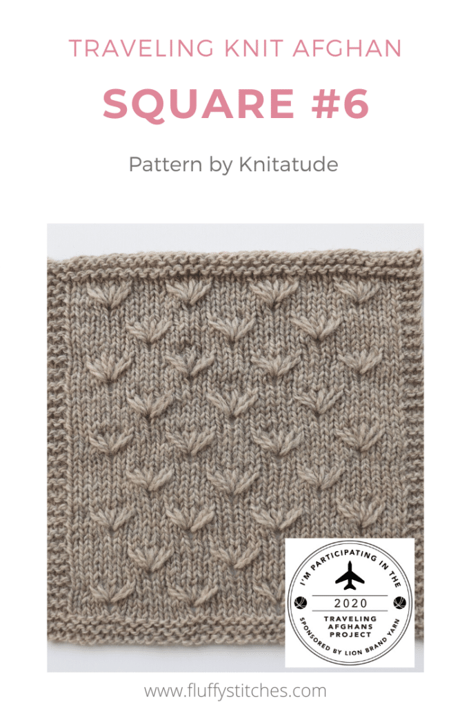 Square Six of the Traveling Knit Afghan, designed by Knitatude get us to welcome spring with a wonderful flower pattern! Read about it here!
