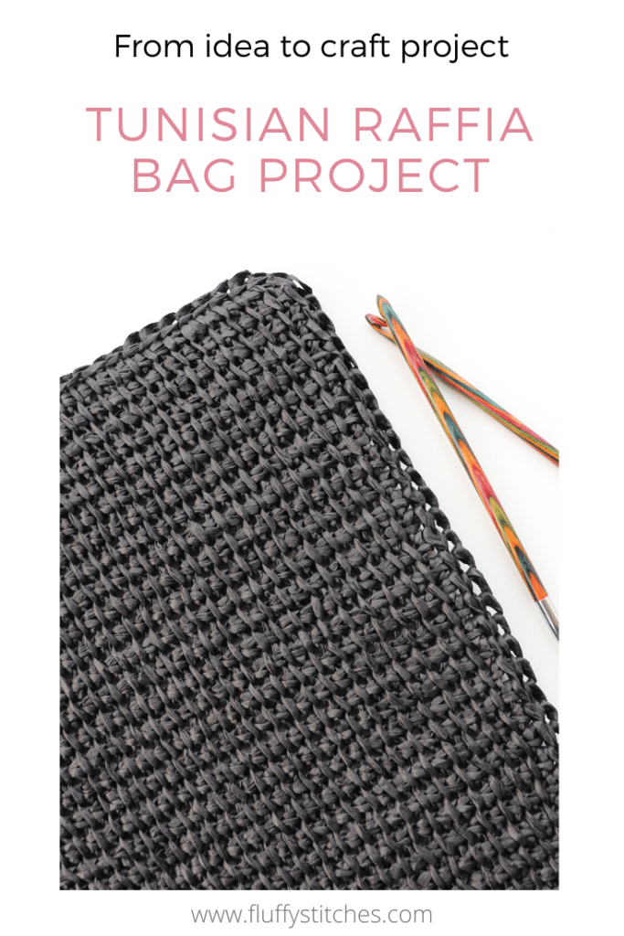 The Tunisian Crochet Raffia Bag project has got its base! See how I work in this series of posts where I share with you my creative process.