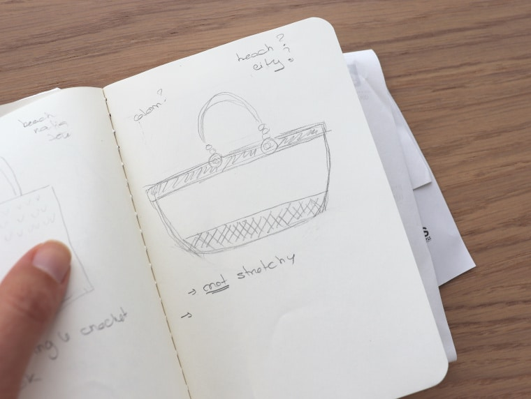 The first sketch for a bag