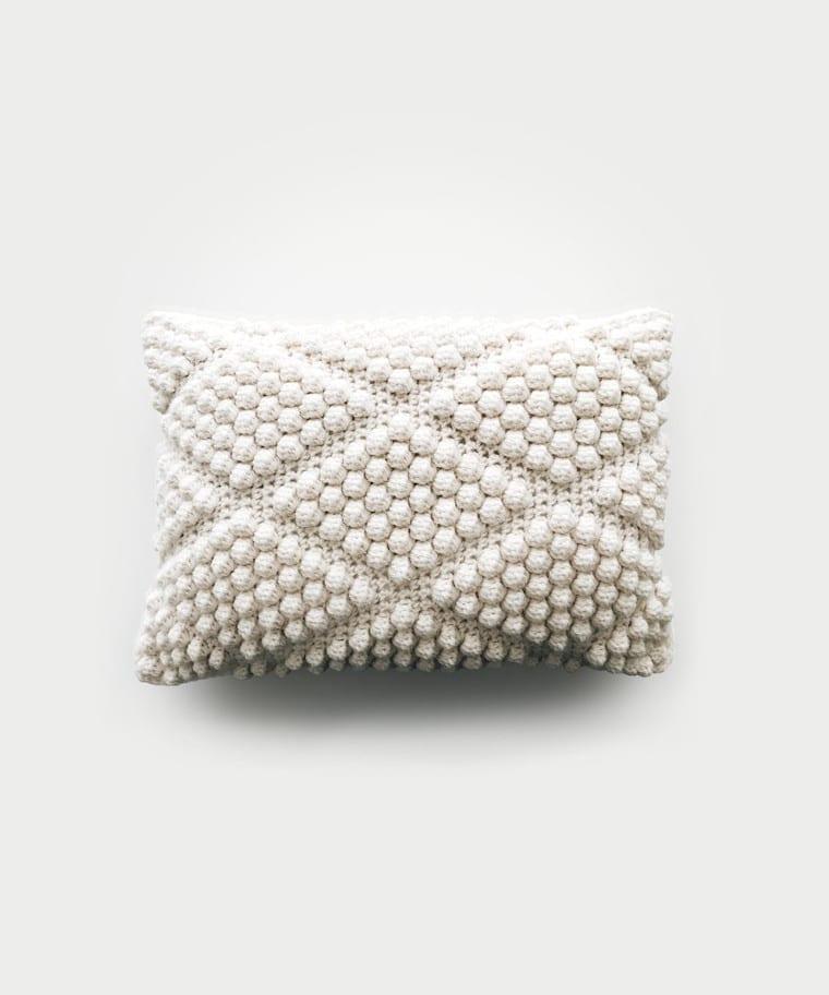 The Diamond crochet pillow from Debrosse