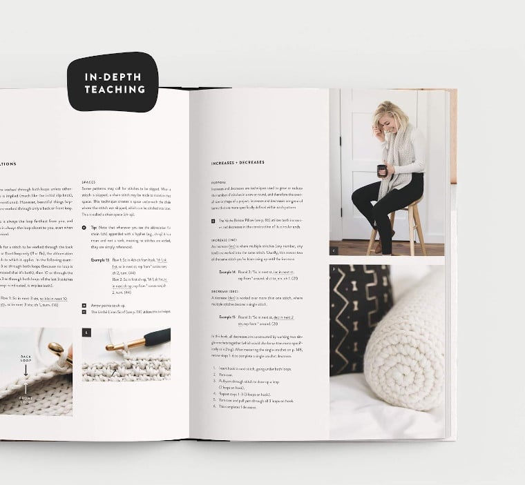 In-depth teaching in the book Modern Crochet
