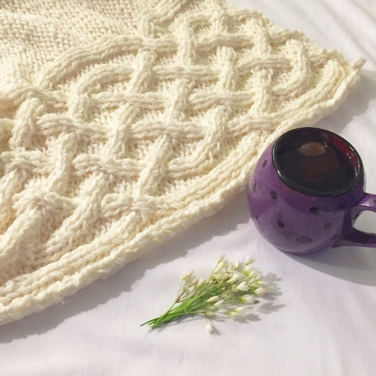 The Celtic Knit Baby Blanket by Hanks and Needles
