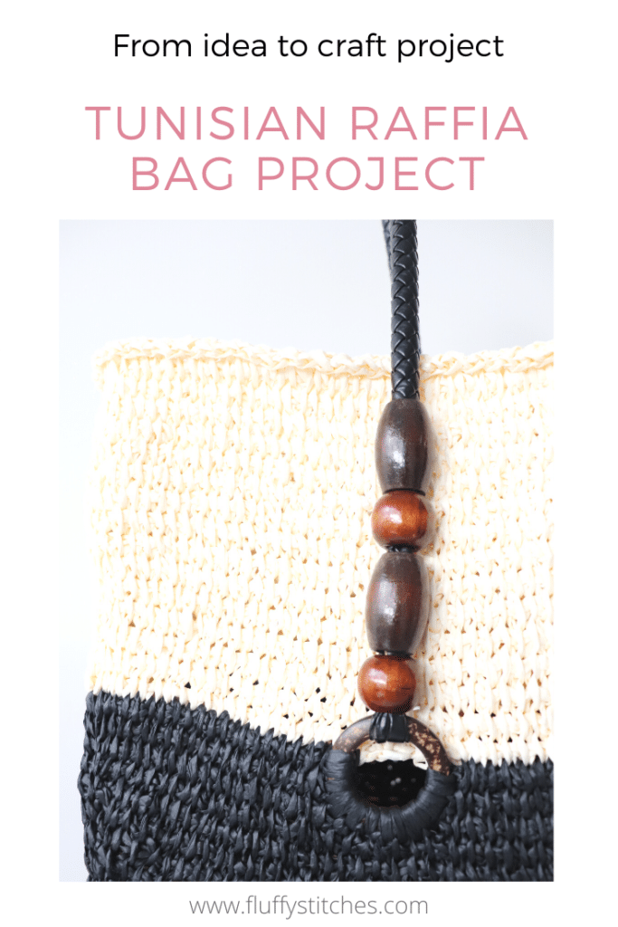 Let's finish our Tunisian Raffia Bag Project! Join me in paving the way to the finish line of this series of posts where I share all steps and challenges.
