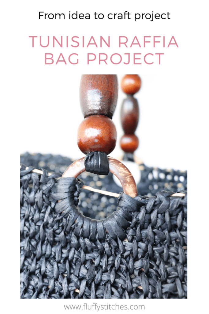 Let's get some handles on our Tunisian Raffia Bag Project! Join me in this series of posts where I share with you all the steps and challenges of making a Tunisian raffia bag!