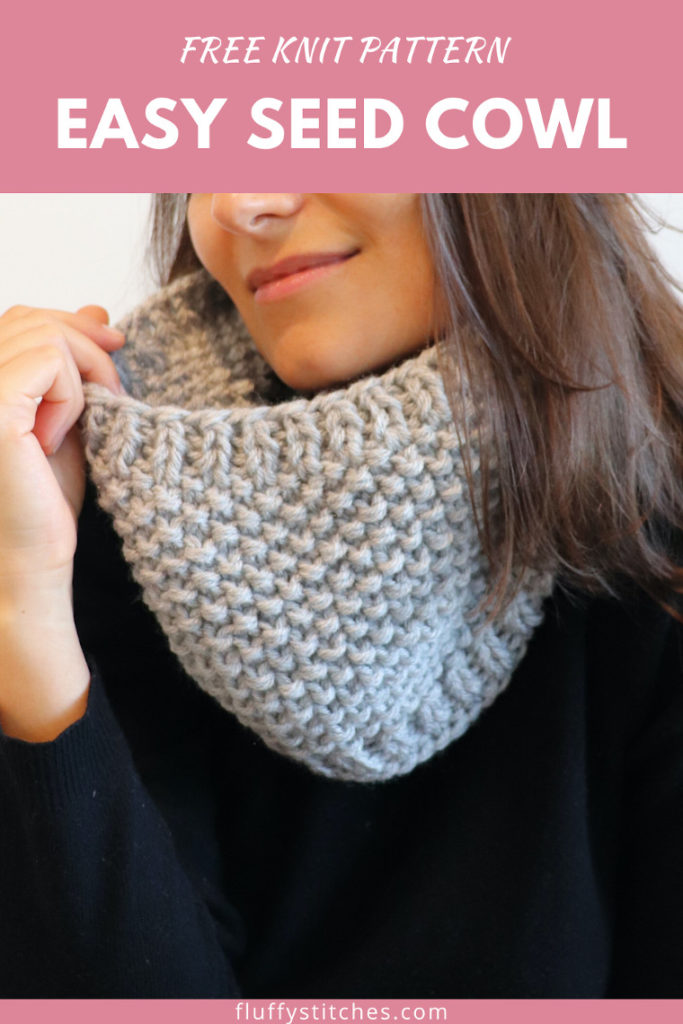 The Knit Easy Seed Cowl is a gift to my knitter readers. An easy cowl it takes just a couple of hours to make. Join my mailing list to get the free pattern!