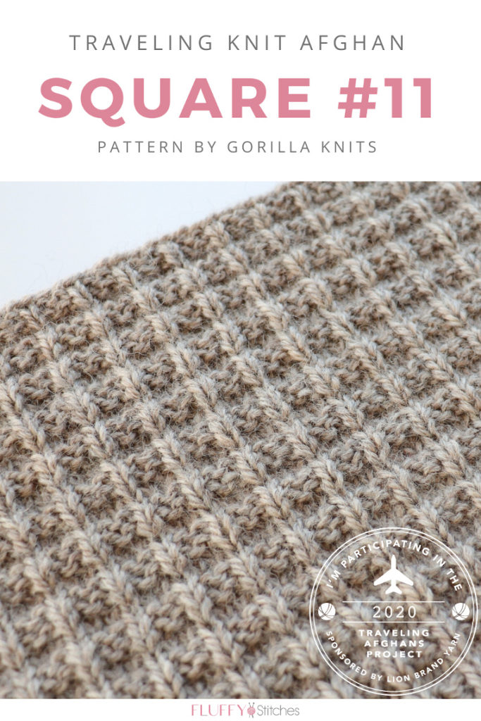 Square Eleven of the Traveling Knit Afghan, designed by Gorilla Knits is here and it's got more than what meets the waffle. Read the whole story here! #travelingknitafghan #travelingafghan