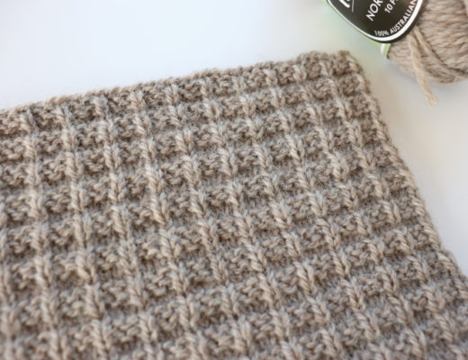 Traveling Knit Afghan - Square Eleven designed by Whistle and Wool and made by Fluffy Stitches