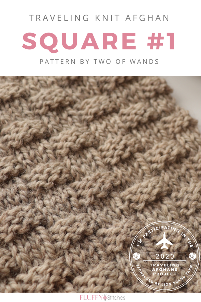 Find out about the Traveling Afghans Project and come see my take on the Traveling Knit Afghan with Square One designed by Two of Wands! #travelingknitafghan #travelingafghansproject