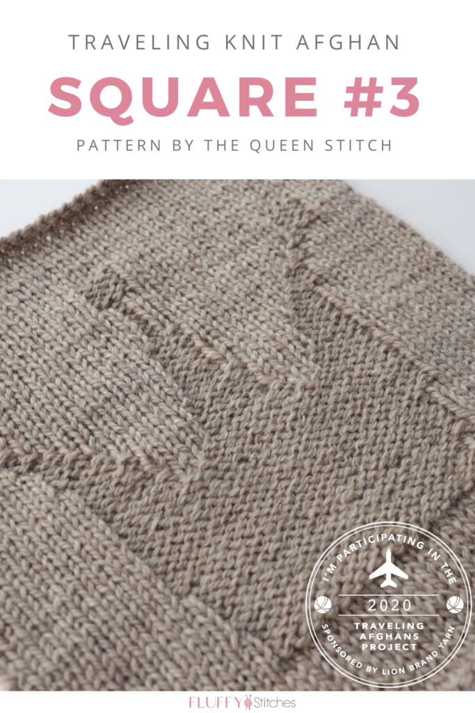 Square Three of the Traveling Knit Afghan is out! Designed by The Queen Stitch this square will empower you! Read how you can reign over this square! #travelingknitafghan #travelingafghansproject