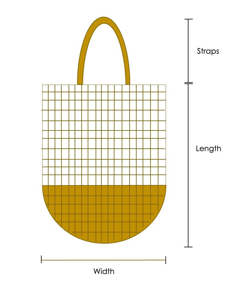 The scheme for the crochet Waffle Market Bag