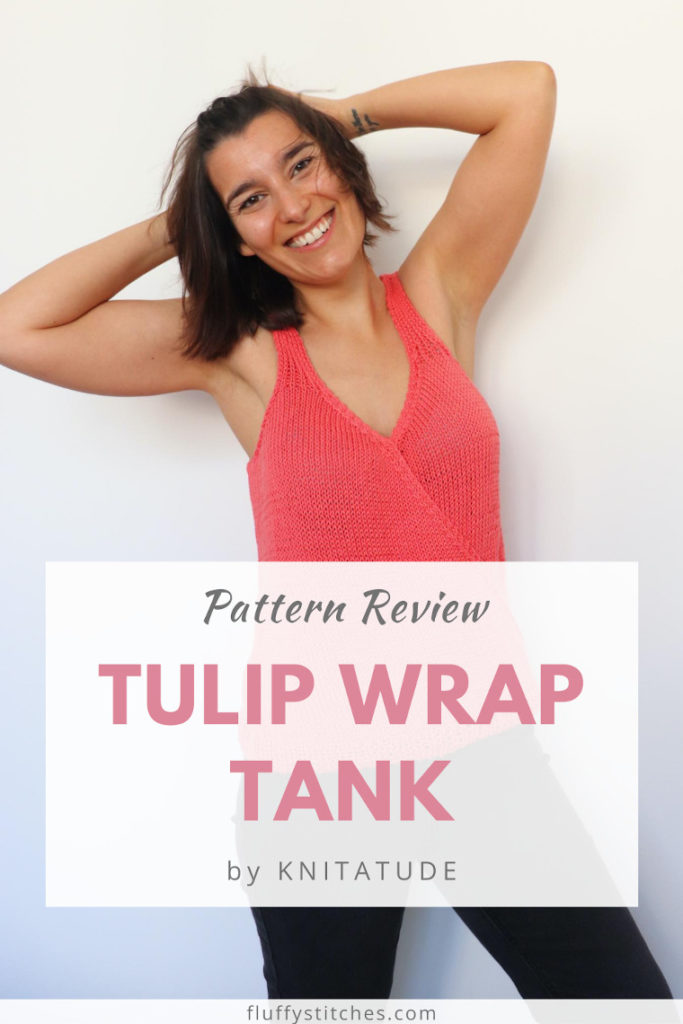 Channel all the summer feelings with the amazing knit Tulip Wrap Tank by Knitatude! Read all about this great design and find out why you need this pattern! #tulipwraptank #summerknit #knittedtop