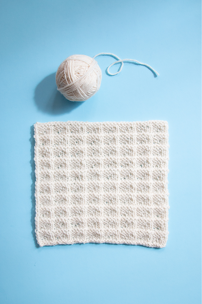 The twentieth square of the Traveling Knit Afghan by Hands Occupied