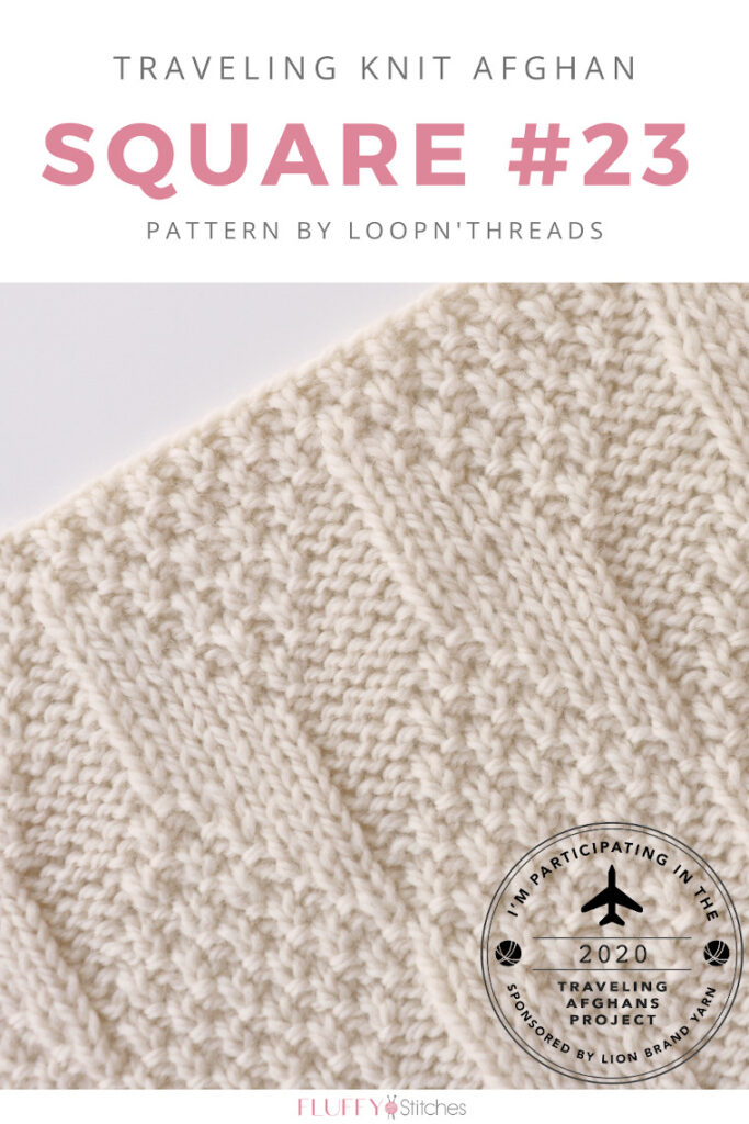 Square Twenty Three of the Traveling Knit Afghan designed by Loopn'Threds is out and it has a great flow to it! Read more about it here! #travelingknitafghan #travelingafghansproject #mylifeinyarn