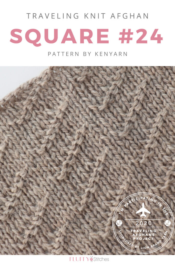 Square Twenty Four, the last square of the Traveling Knit Afghand designed by Kneyarn is here. Read all about the message behind it here! #travelingknitafghan #travelingafghansproject #mylifeinyarn